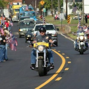 Riding at Dustin Lee's funeral in 2007 with the PGR, been a member since 2006.