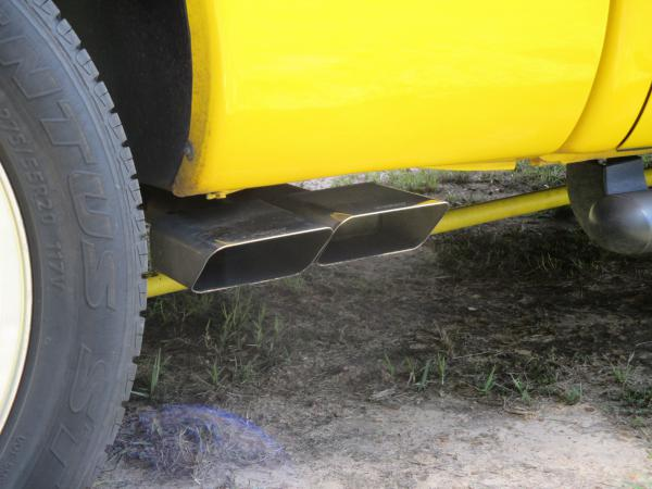 Side exit exhaust and long bar